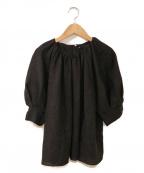 martinique(マルティニーク)の古着「ギャザーブラウス」 チャコールグレー