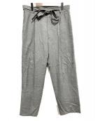 ATON(エイトン)の古着「WOOL CARAMEL PIQUETパンツ」|グレー