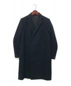 THE RERACS(ザリラクス)の古着「メルトンルーズチェスターコート」|ネイビー