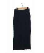 Ys(ワイズ)の古着「タイトロングスカート」|ブラック