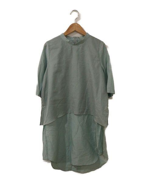 CIROI(シロイ)CIROI (シロイ) フェオンレイヤードスタンドシャツ エメラルドグリーン サイズ:1の古着・服飾アイテム