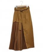 ELENDEEK(エレンディーク)の古着「サイドプリーツスカート」|ブラウン