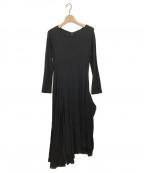 MICHIKO by Y's(ミチコ バイ ワイズ)の古着「オリビアスムースフレアミニドレス」|ブラック