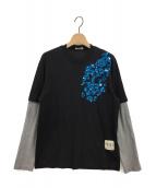 N°21(ヌメロ ヴェントゥーノ)の古着「スパンコールレイヤードカットソー」|ブラック