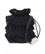 Y's(ワイズ)の古着「ウールギャバフリルポシェット / ショルダーバッグ」|ブラック