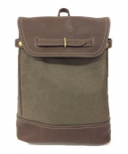 土屋鞄(ツチヤカバン)の古着「タウンコンビリュック」|ブラウン