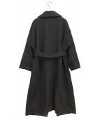Mila Owen(ミラオーウェン)の古着「チェスターコート」|ブラック