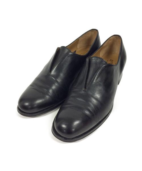 LeYuccas(レユッカス)LeYuccas (レユッカス) SLIT SLIP ON ブラック サイズ:42の古着・服飾アイテム