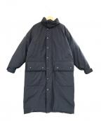 THEATRE PRODUCTS(シアタープロダクツ)の古着「ポリエステルタフタロングダウンコート」 ブラック
