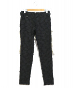 Azuma(アズマ)の古着「CRUST JACQUARD PANTS」 ブラック