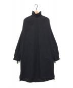 DRIES VAN NOTEN(ドリスヴァンノッテン)の古着「シャツワンピース」|ブラック