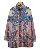 ETRO(エトロ)の古着「ペイズリー柄ジップジャケット」|ブルー