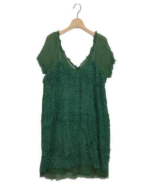 UNDERCOVER(アンダーカバー)UNDERCOVER (アンダーカバー) シルクワンピース グリーン サイズ:2の古着・服飾アイテム
