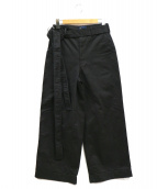 FRED PERRY × AKANE UTSUNOMIYA(フレッドペリー × アカネウツノミヤ)の古着「Wide Trousers」 ブラック