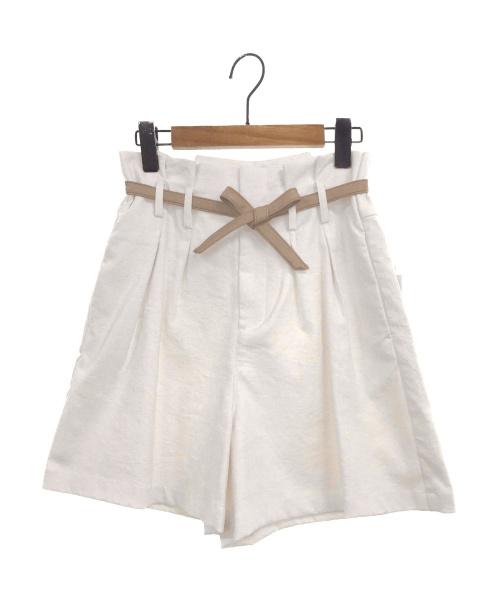 Ameri VINTAGE(アメリビンテージ)Ameri VINTAGE (アメリビンテージ) LITTLE LINEN OVER HALF PANTS ホワイト サイズ:S 未使用品の古着・服飾アイテム