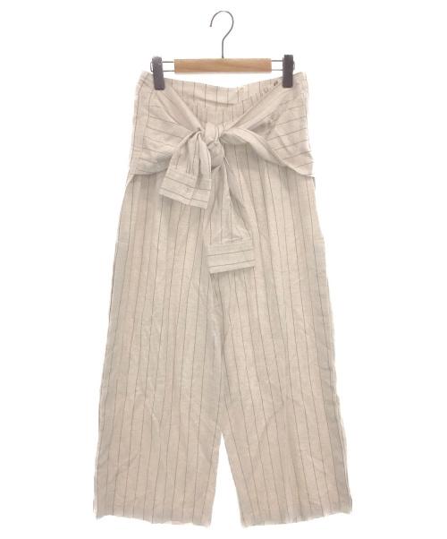 Ameri VINTAGE(アメリビンテージ)Ameri VINTAGE (アメリビンテージ) SHIRT SLEEVE TIE UP PANTS ナチュラル サイズ:Sの古着・服飾アイテム