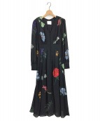 Ameri VINTAGE(アメリビンテージ)の古着「2WAY AMANDA DRESS」|ネイビー