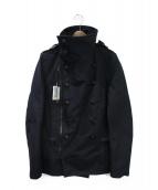 BALMAIN(バルマン)の古着「ナポレオンライダースコート」|ブラック