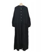 KAMPERETT(カンペレット)の古着「バルーンスリーブワンピース」 ブラック