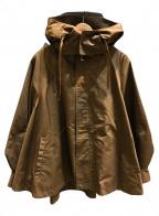 Emma Taylor(エマテイラー)の古着「ミリタリーフレアーフードコート」|ブラウン
