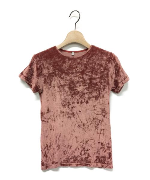 BASERANGE(ベースレンジ)BASERANGE (ベースレンジ) OMOシャイニーベロアTシャツ サイズ:Sの古着・服飾アイテム