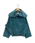 MAISON FLANEUR(メゾン フラネウール)の古着「ベロアカットソー」 ブルー