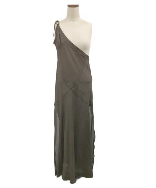 PERVERZE(パーバーズ)PERVERZE (パーバーズ) ワンショルダーワンピース ブラウン サイズ:Fの古着・服飾アイテム