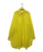 Maison Margiela 4(メゾンマルジェラ4)の古着「オーバーサイズシャツ」|イエロー