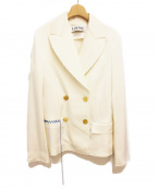 LOEWE(ロエベ)の古着「Notch-lapel Twill Blazer」|ホワイト