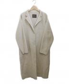 Droite lautreamont(ドロワットロートレアモン)の古着「ウールシルクネップリバーコート」|ベージュ
