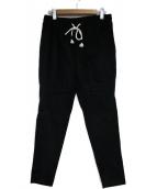 COGTHEBIGSMOKE(コグザビッグスモーク)の古着「ジョードプルベルベットパンツ」|ブラック