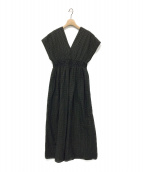 MARIHA(マリハ)の古着「ドットカフタンワンピース」|ブラック