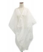 ISSEY MIYAKE(イッセイミヤケ)の古着「シースルーショール」 ホワイト