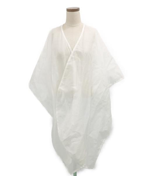 ISSEY MIYAKE(イッセイミヤケ)ISSEY MIYAKE (イッセイミヤケ) シースルーショール ホワイト サイズ:- IM52AD215の古着・服飾アイテム