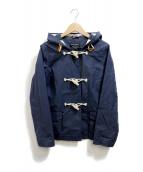 GLOVER ALL(グローバーオール)の古着「コットンショートダッフルコート」|ネイビー