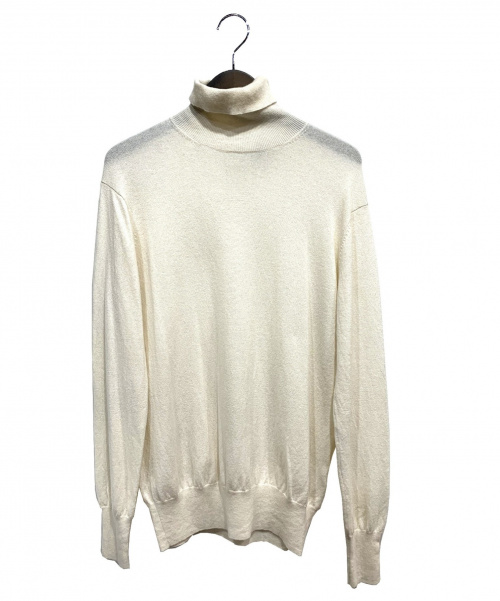 loin(ロイン)loin (ロイン) カシミヤ混タートルネックニット ホワイト サイズ:38の古着・服飾アイテム
