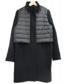 DOUBLE STANDARD CLOTHING(ダブルスタンダードクロージング)の古着「異素材ドッキングコート」|ブラック