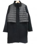 DOUBLE STANDARD CLOTHING(ダブルスタンダードクロージング)の古着「異素材ドッキングコート」 ブラック