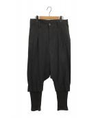 LIMI feu(リミフゥ)の古着「サルエルパンツ」|ブラック
