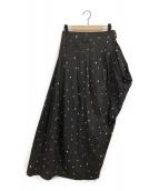 AKIRA NAKA(アキラ ナカ)の古着「ヨランダフロッキースカート」|ブラック