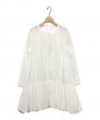merlette(マーレット)の古着「MARTELティアードワンピース」 ホワイト