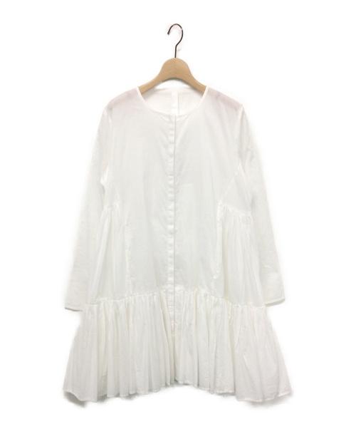 Merlette(マーレット)Merlette (マーレット) MARTELティアードワンピース ホワイト サイズ:X-SMALLの古着・服飾アイテム