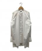 edition(エディッション)の古着「トルファンコットンツイルビッグバスクシャツ」|ホワイト