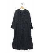 RIAM PLAGE(リアムプラージュ)の古着「ギャザーマキシワンピース」 ブラック