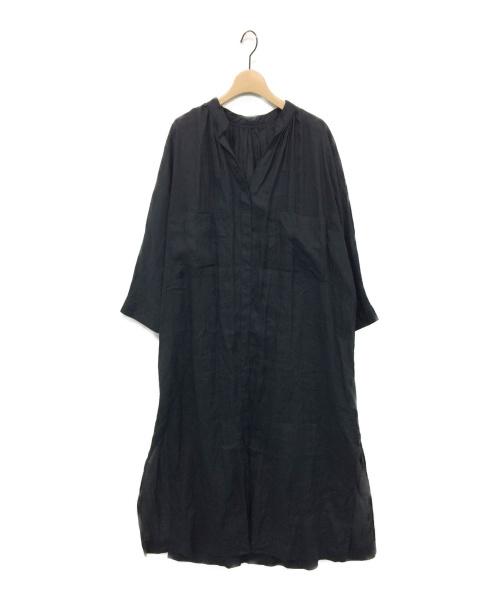 RIAM PLAGE(リアムプラージュ)RIAM PLAGE (リアムプラージュ) ギャザーマキシワンピース ブラック サイズ:36 Deuxieme Classeの古着・服飾アイテム