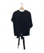N°21 numero ventuno(ヌメロヴェントゥーノ)の古着「バックリボンロゴTシャツ」|ブラック