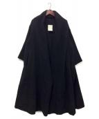MADISON BLUE(マディソンブルー)の古着「ドレープラップコート」 ブラック