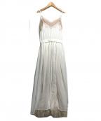 Belle vintage(ベル ビンテージ)の古着「レースキャミソールワンピース」 ホワイト