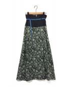 FURFUR(ファーファー)の古着「クラシックフラワープリントスカート」|ブラック