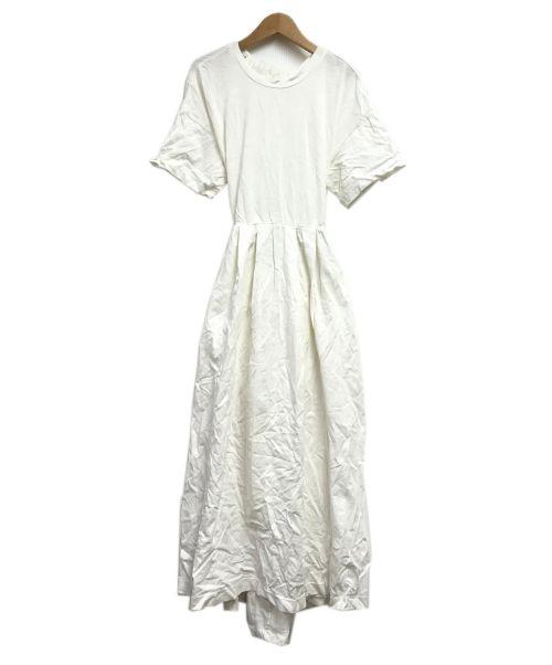N.O.R.C(ノーク)N.O.R.C (ノーク) バックシャンカットソーワンピース ホワイト サイズ:Sの古着・服飾アイテム